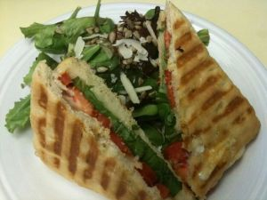 Panini with homemade focaccia by Ivie